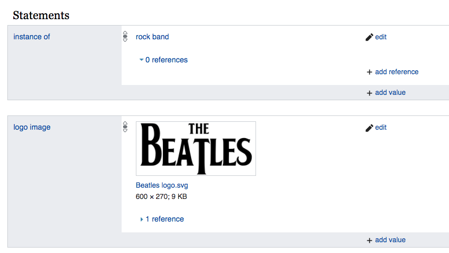 Beatles entity search